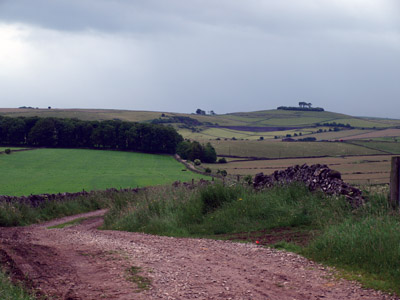 Cobblersnook Lane looking to Minninglow