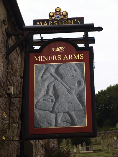 Miners' Arms inn-sign