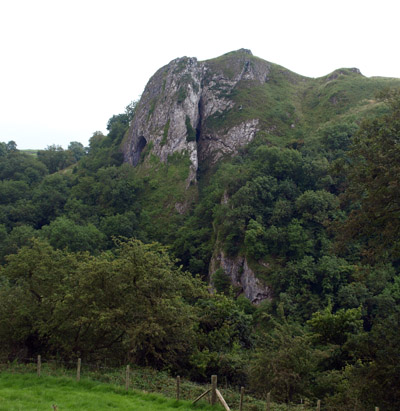 Thor's Cave from the path to Ladyside Wood