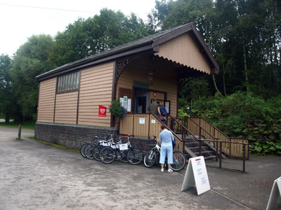 Waterhouses Old Station bike hire centre