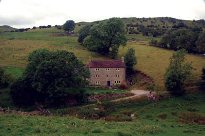 Pepper Hall from the footpath to Wetton Hill