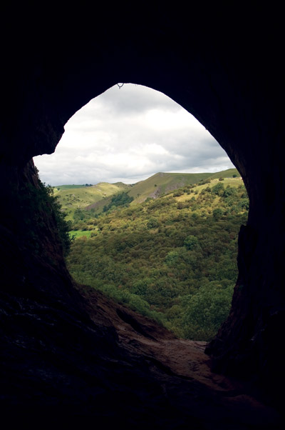 View out of Thor's Cave
