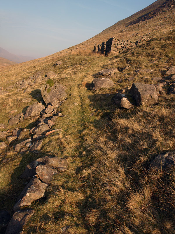 Path to ruined shepherds' bothy under Gale Fell
