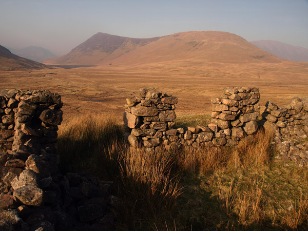 Mosedale from the ruined bothy
