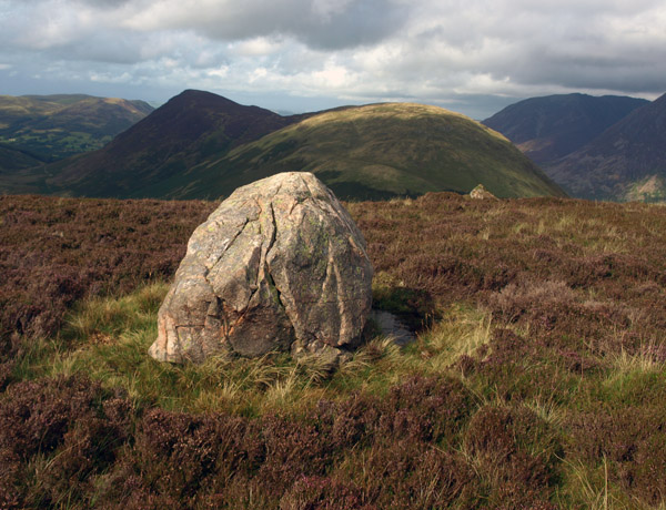 Boulder on  top of the Gale Fell escarpment
