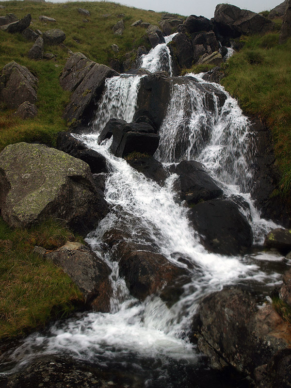 Cascades in gill outflowing from Scoat Tarn