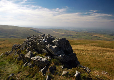 outcrop on Tindale Fell