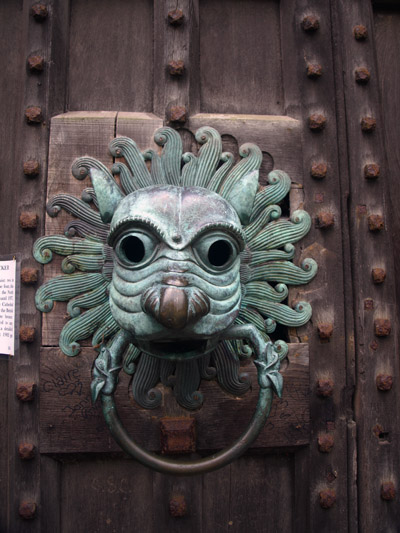 bronze knocker